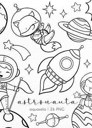 Kit Digital P&B   Astronauta