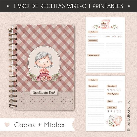 Livro de Receitas da vovó | Miolo + Capa