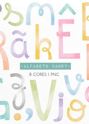 Kit Digital Alfabeto Candy