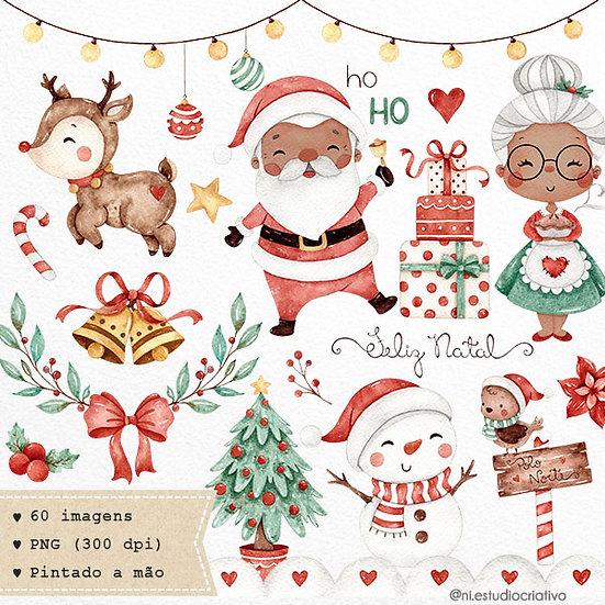 Kit Digital Doce Natal   Versão Negra