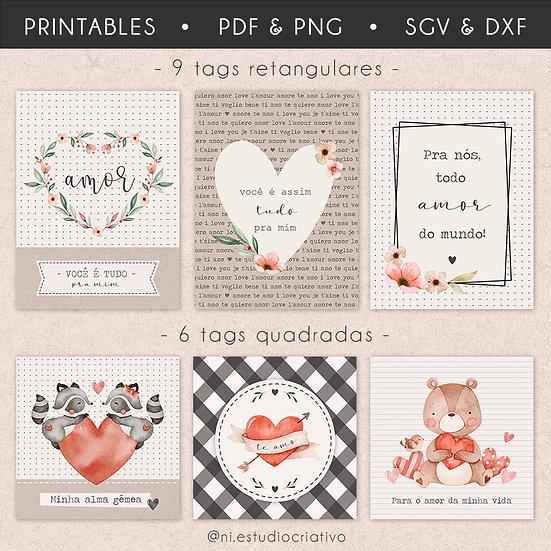 Printables Com Amor | Tags