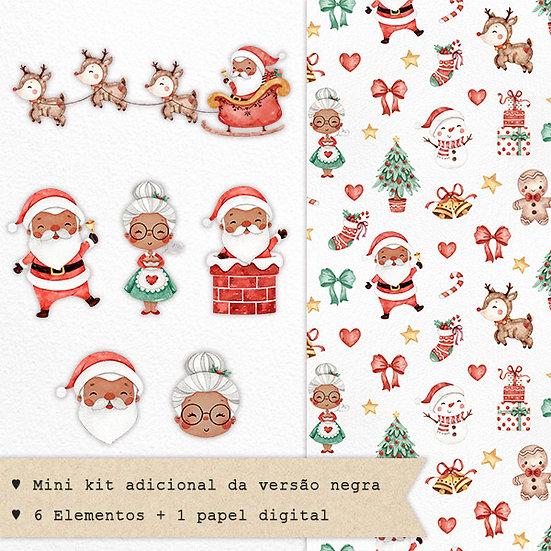 Mini Kit Digital Doce Natal   Versão Negra