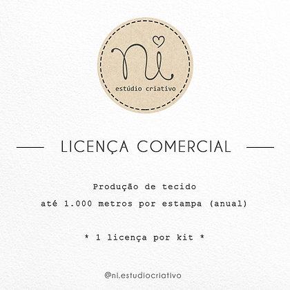 Licença de Uso - Produção de tecido (até 1.000mts)