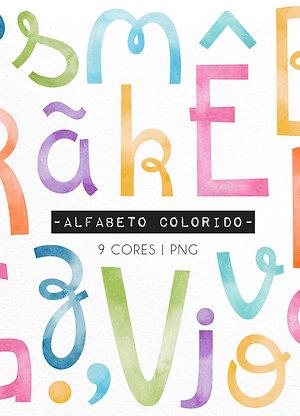 Kit Digital Alfabeto Colorido