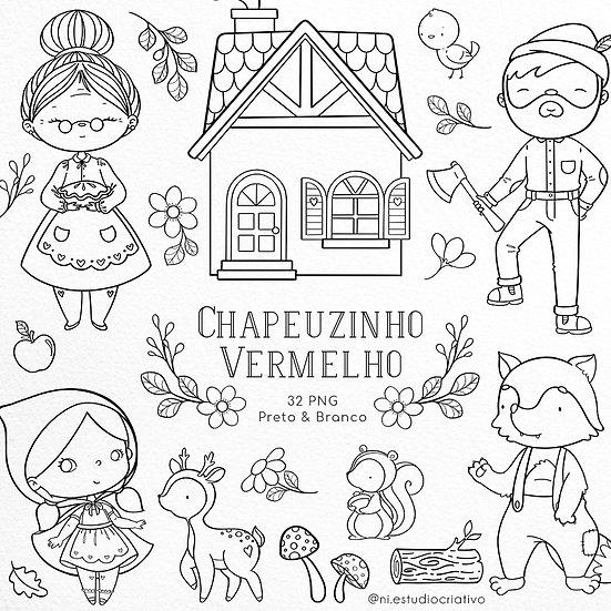 Kit Digital P&B   Chapeuzinho Vermelho
