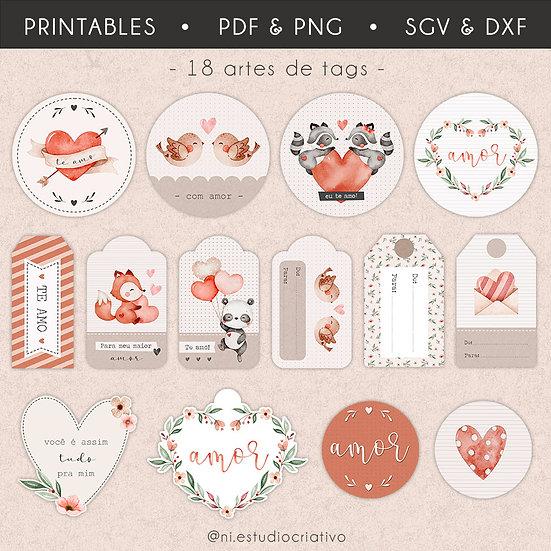 Printables Com Amor   Tags
