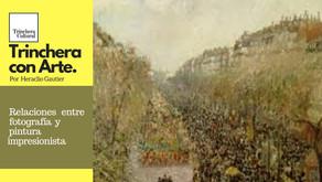 Relaciones entre fotografía y pintura impresionista