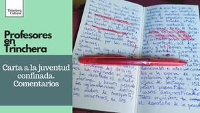 Carta a la juventud confinada. Comentarios