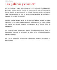 Las palabas y el amor - Alberto Moreno_p