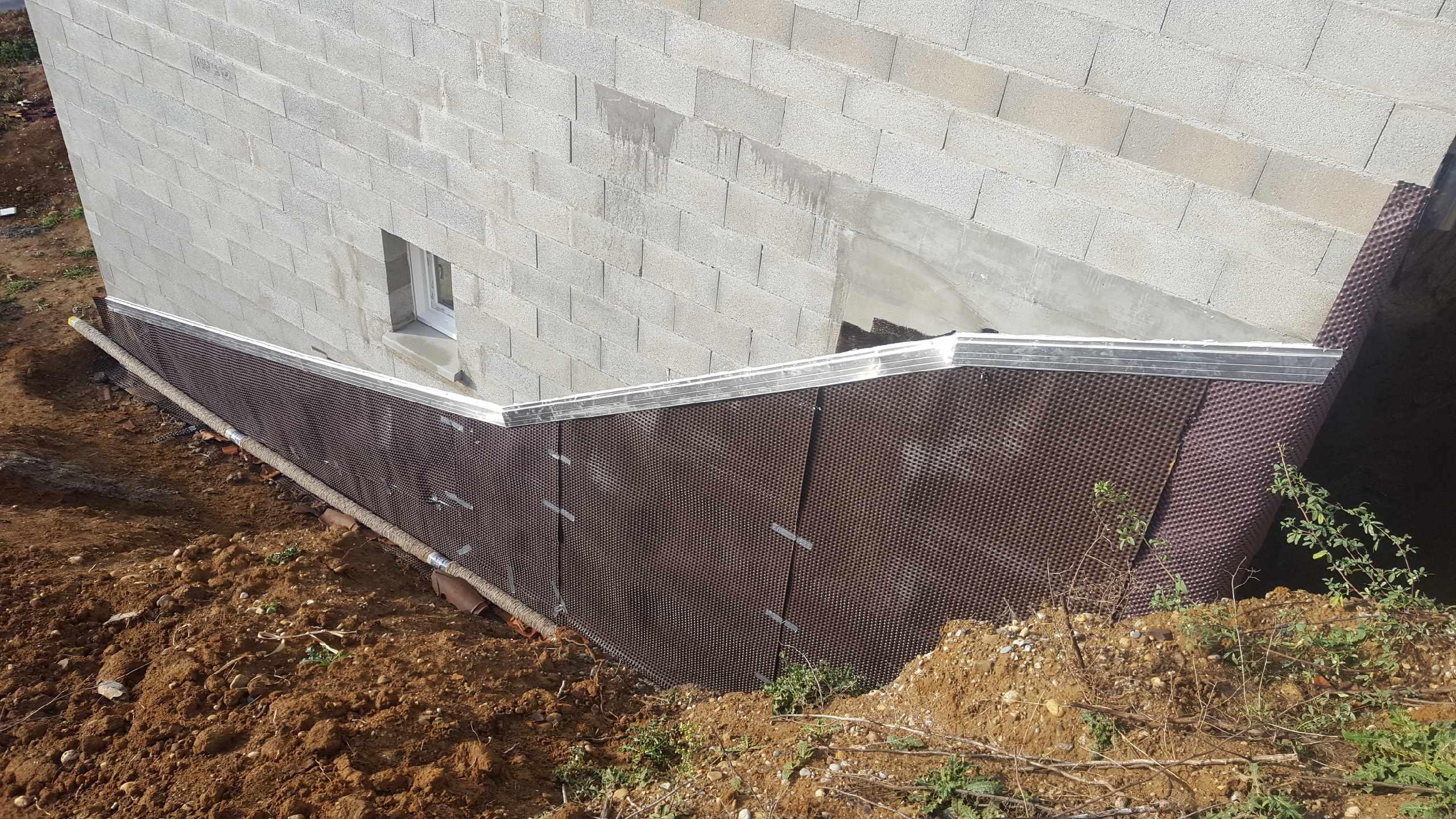 etancheite mur enterré lyon