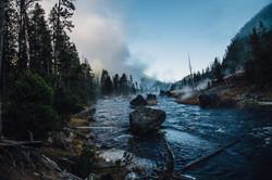 Gibbon River Morning- Yellowstone
