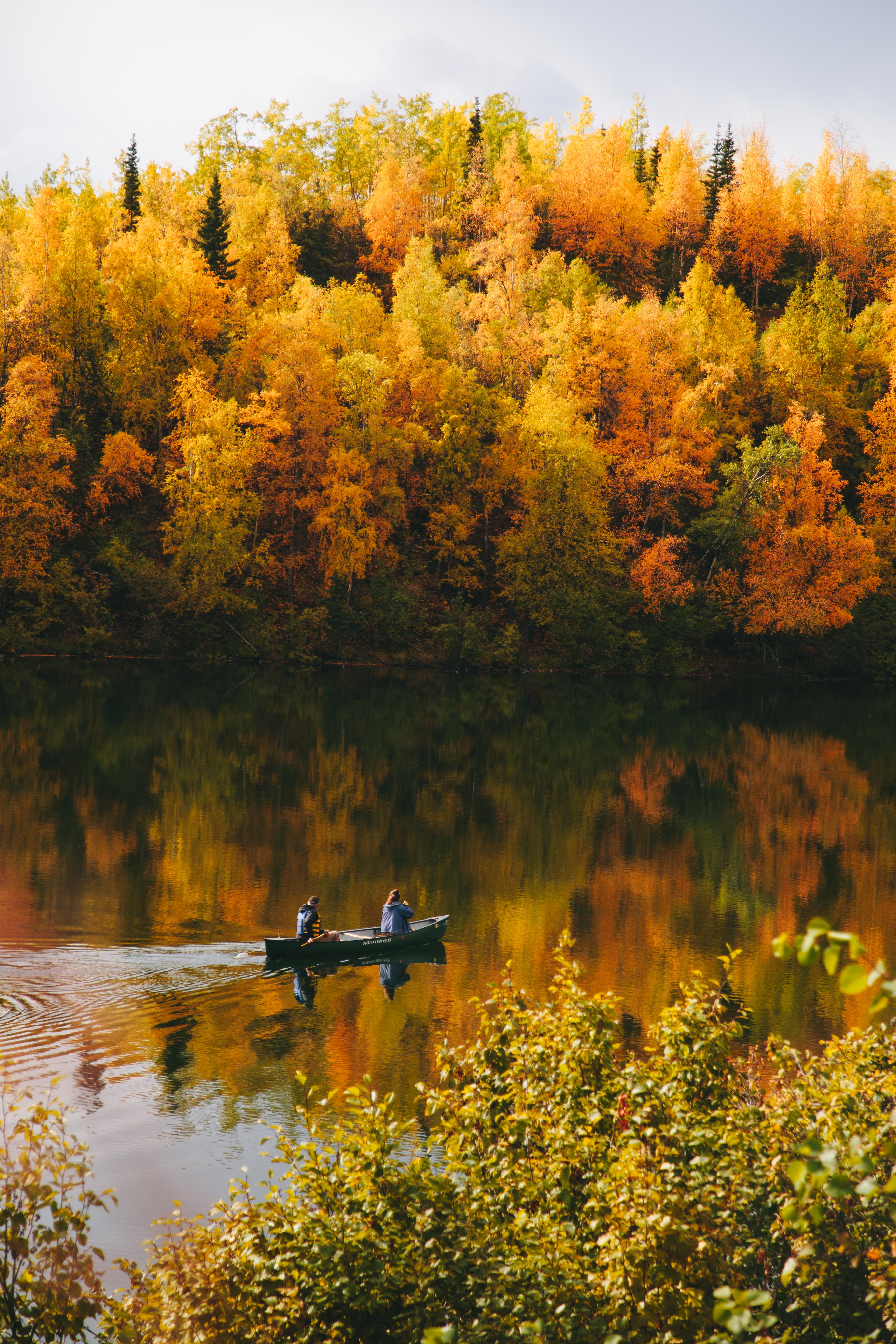 Canoe on an Alaska Lake
