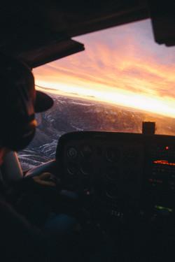 Flying in Montana