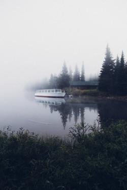 Foggy Swiftcurrent-Glacier Park Boat