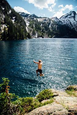 Jumping in Turquoise Lake, Montana