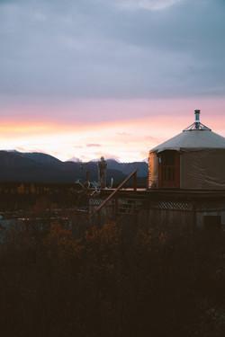 Alaska Yurt Sunset