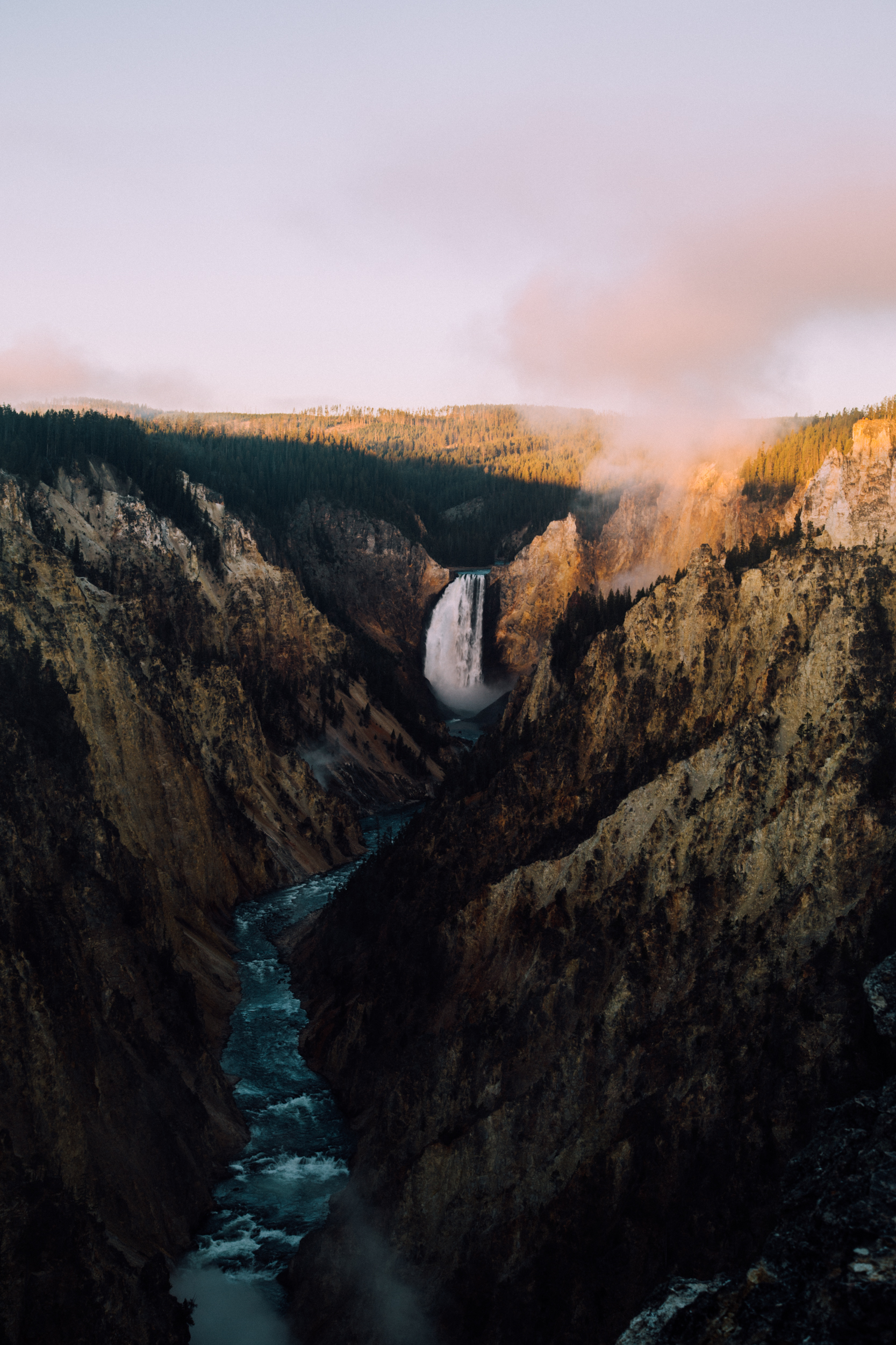 Yellowstone Falls Sunrise