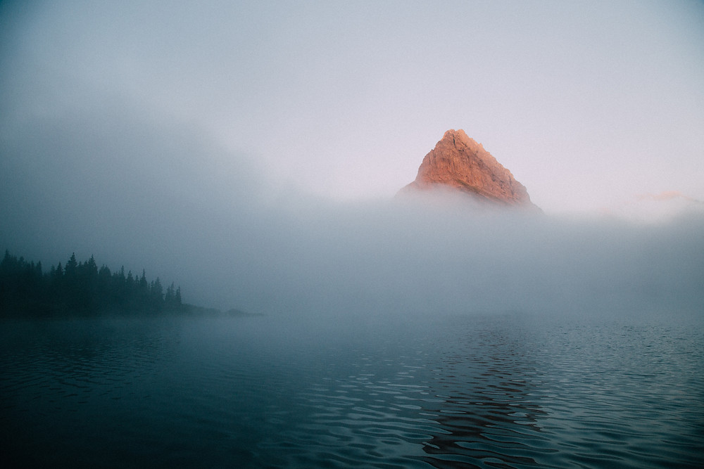 Shrouded in Fog, Swiftcurrent Lake, Glacier National Park, Montana |  Montana Adventure Photographer | Montana Photographer