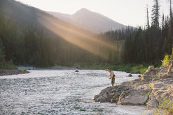 FlyFishing- South Fork Flathead River- Pink Sunset-02893