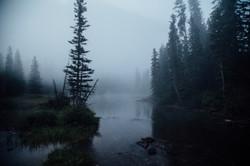 Many Glacier in the Mist