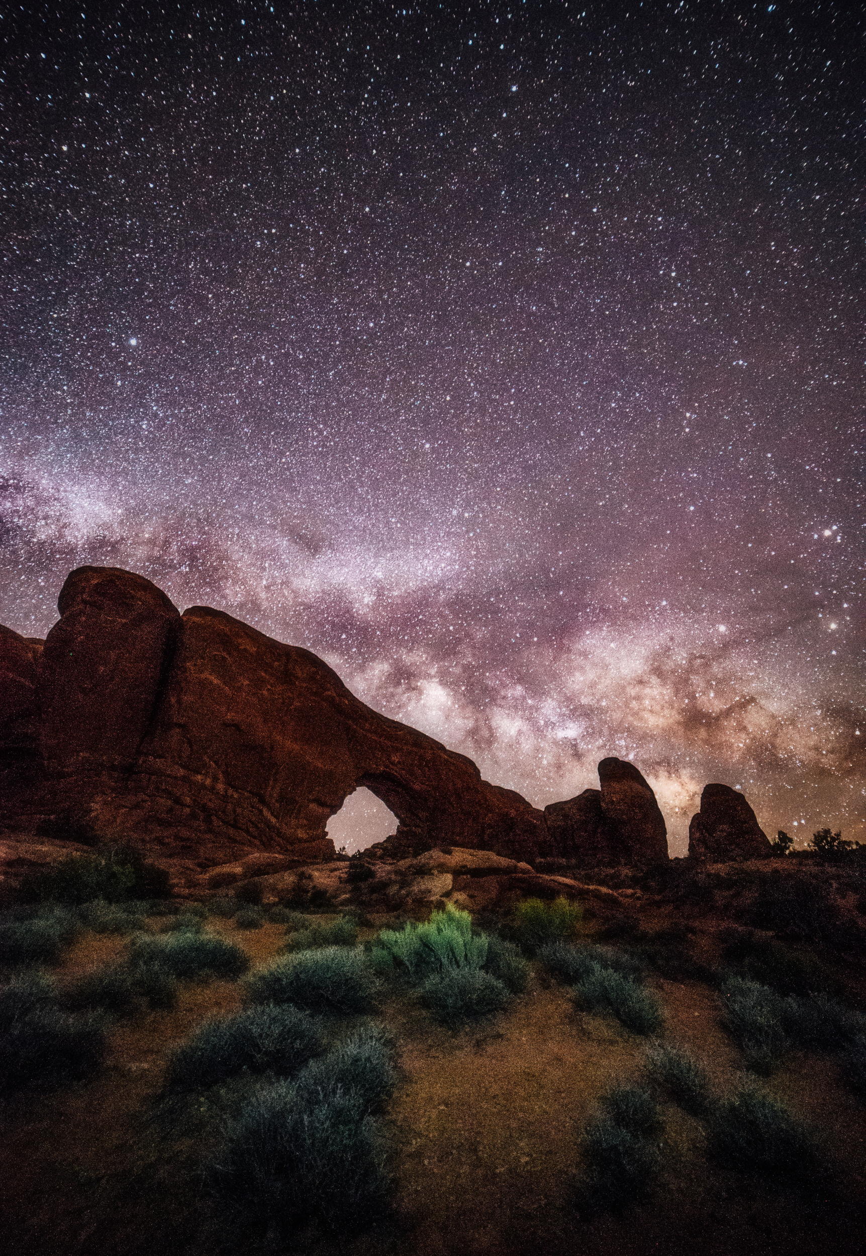 North Window, Utah- Arches-Stars