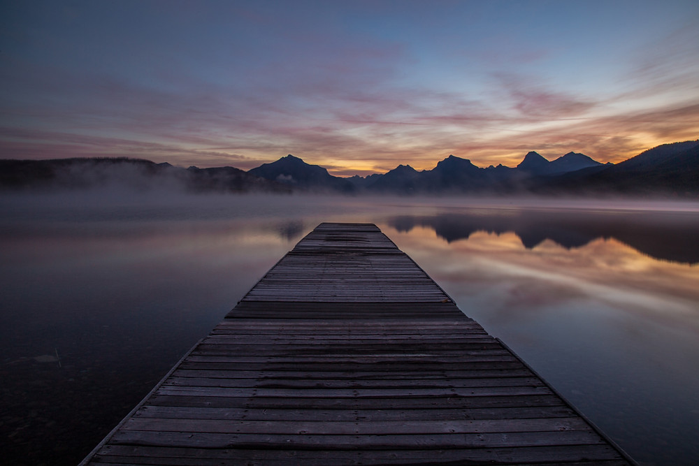 Sunrise on Lake McDonald, Glacier National Park, Montana |  Montana Adventure Photographer | Montana Photographer