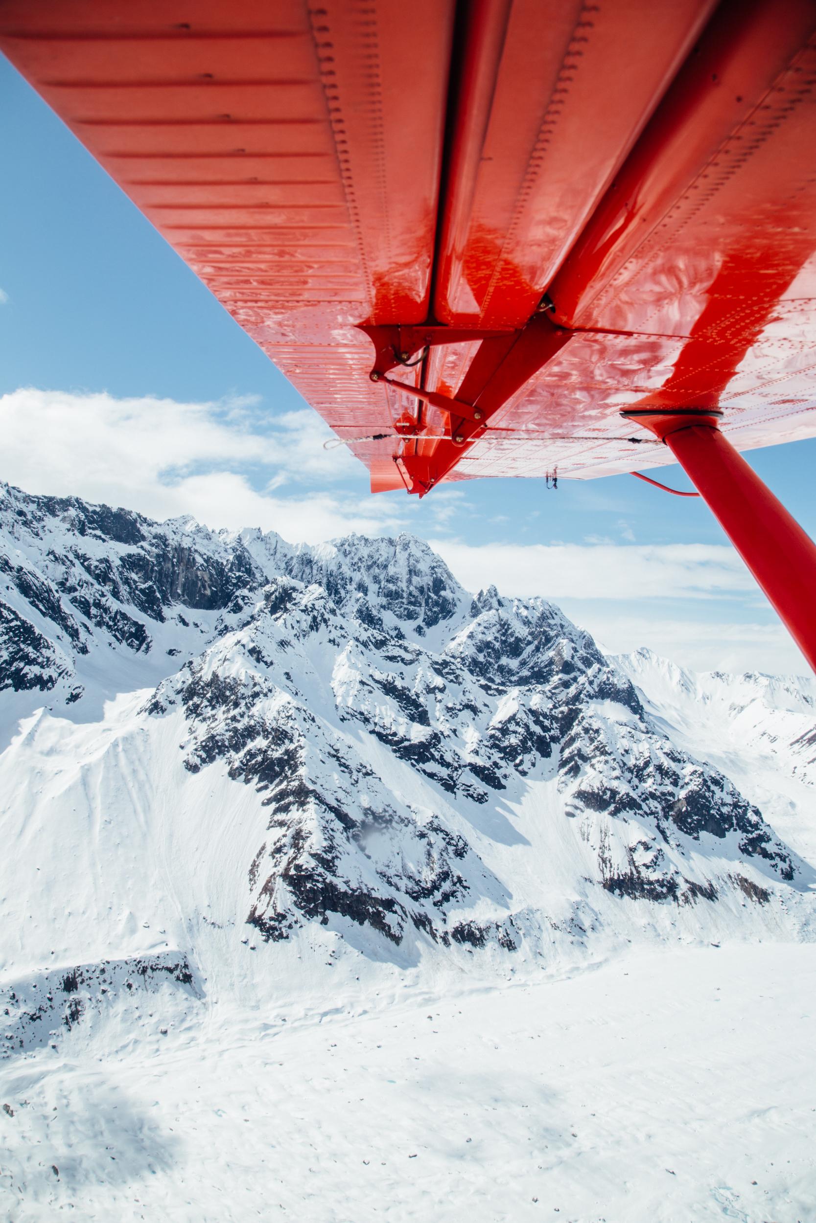 Flying Above the Alaska Range