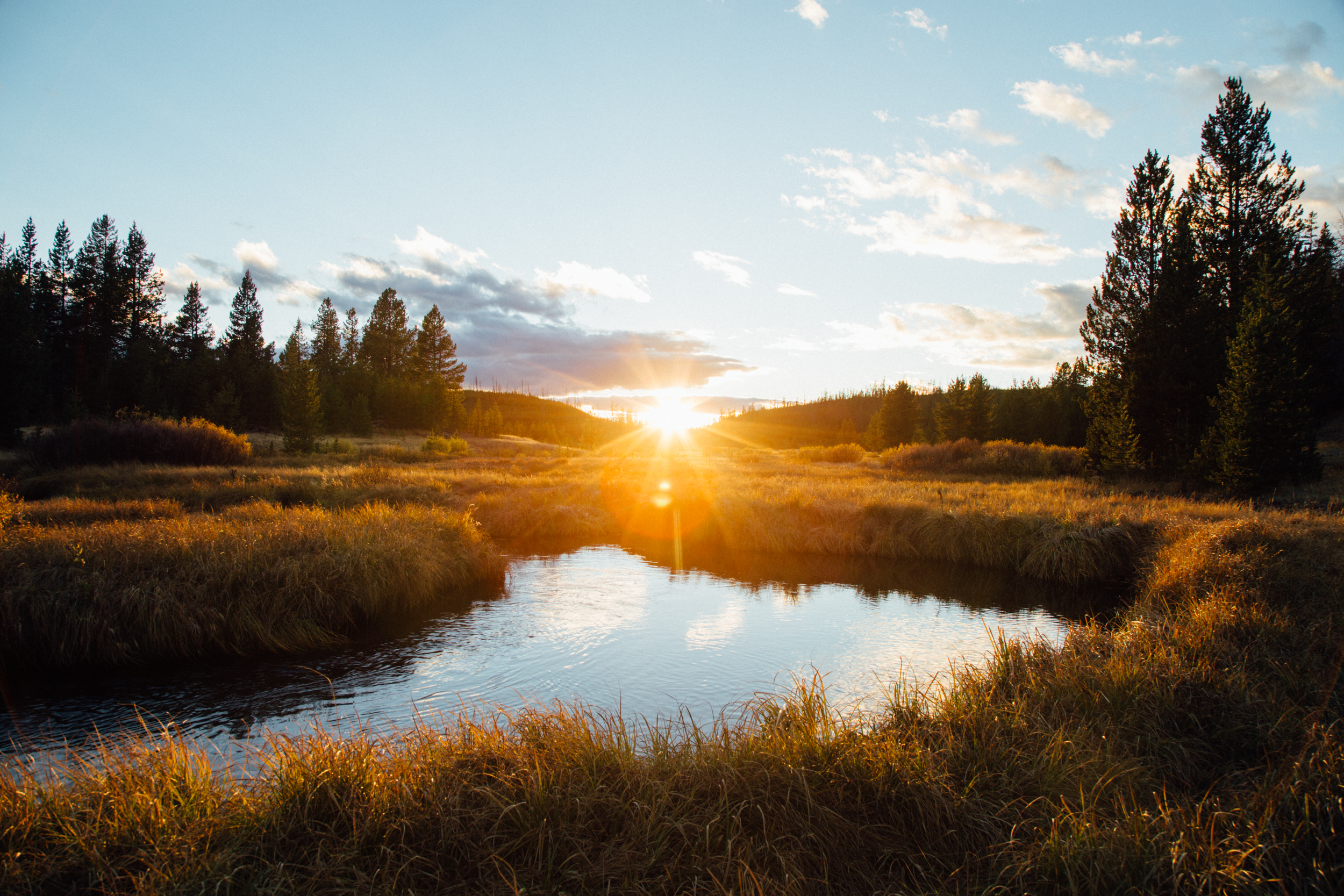Gibbon River Sunset- Yellowstone