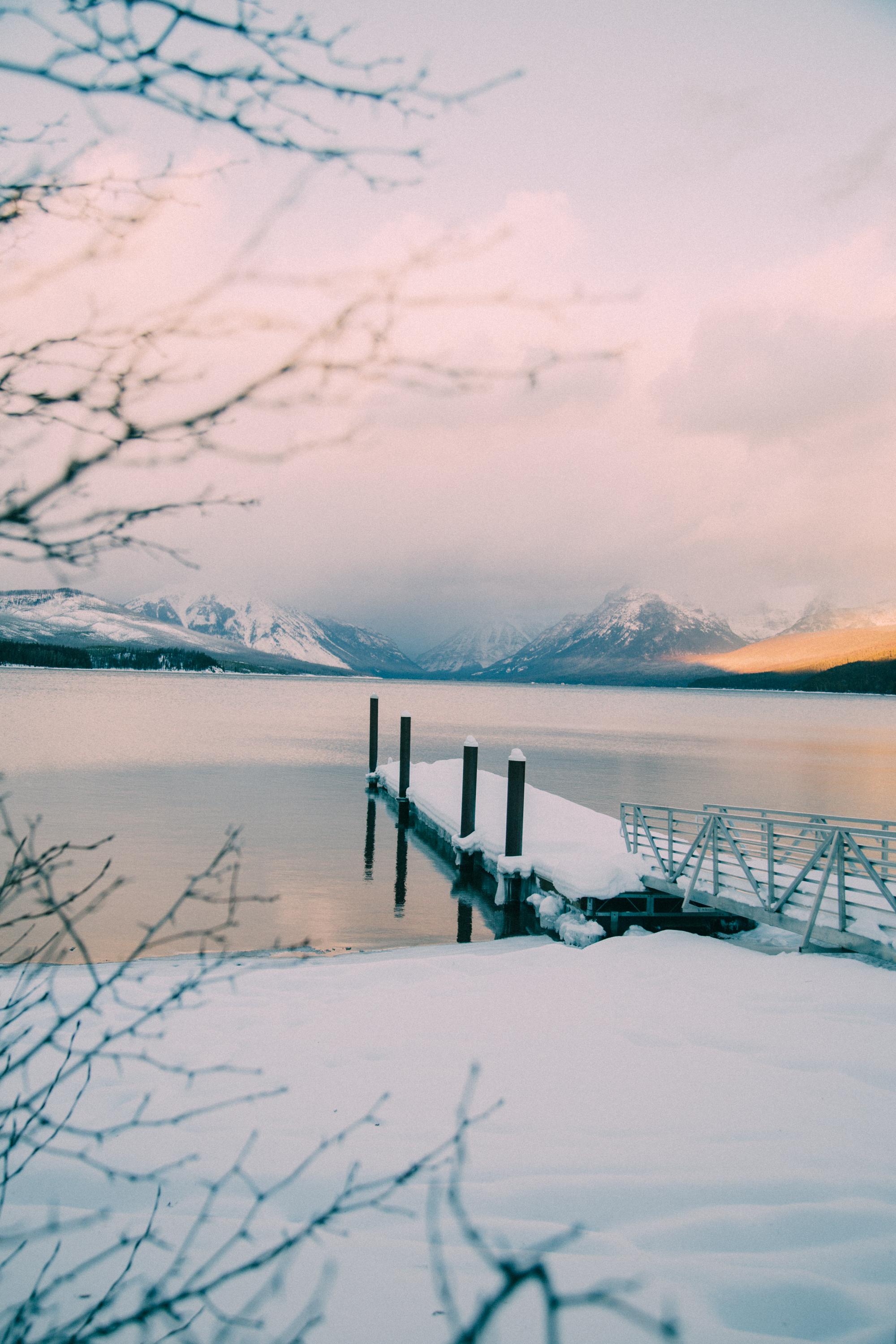 Final Light on Lake McDonald-Montana