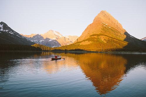 Swiftcurrent Sunrise Paddle- Glacier National Park, MT