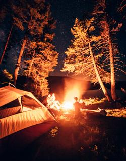 Campfire, Camping- Montana