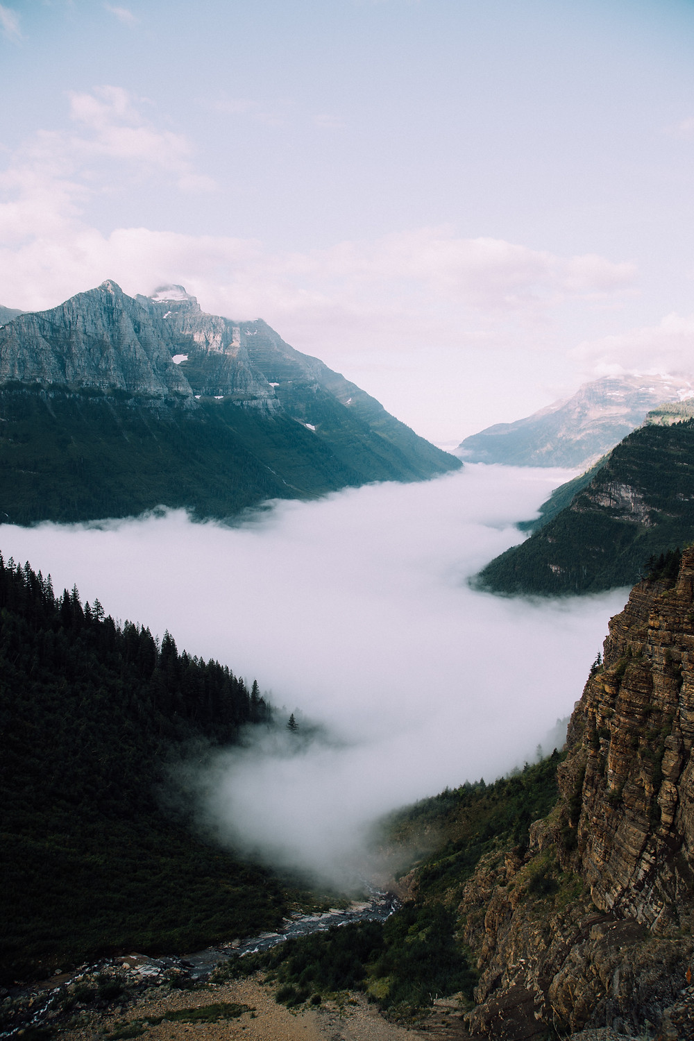 Rivers of Clouds, Glacier National Park, Montana |  Montana Adventure Photographer | Montana Photographer