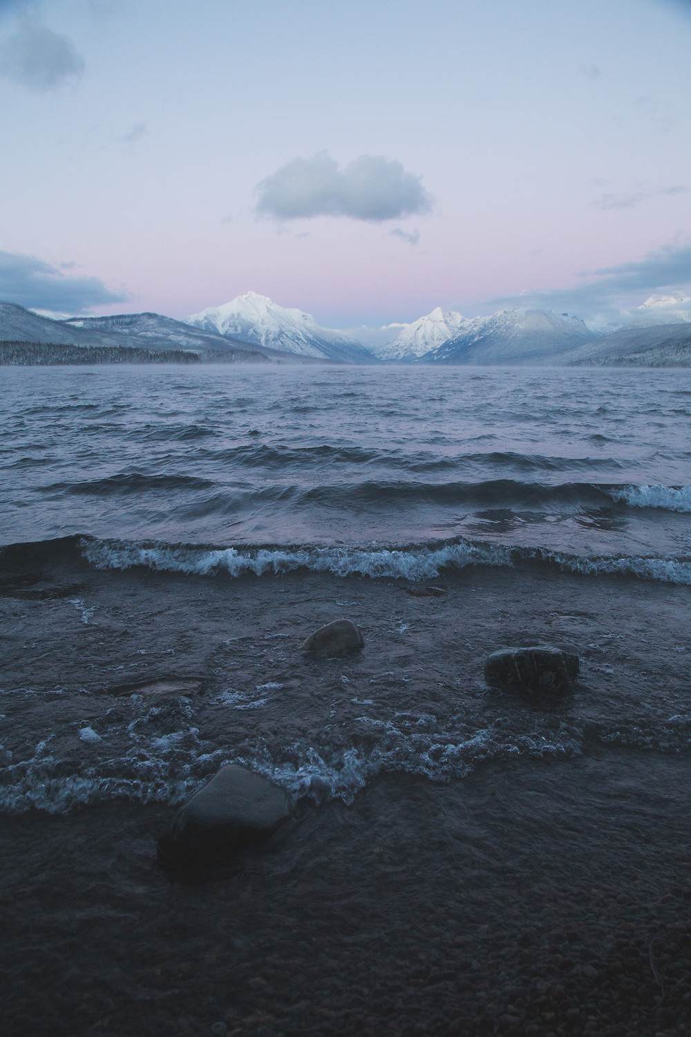 Winter Twilight, Lake McDonald, Glacier National Park, Montana |  Montana Adventure Photographer | Montana Photographer