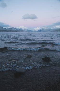 Lake-McDonald-Sunset-Waves-Glacier-National-Park