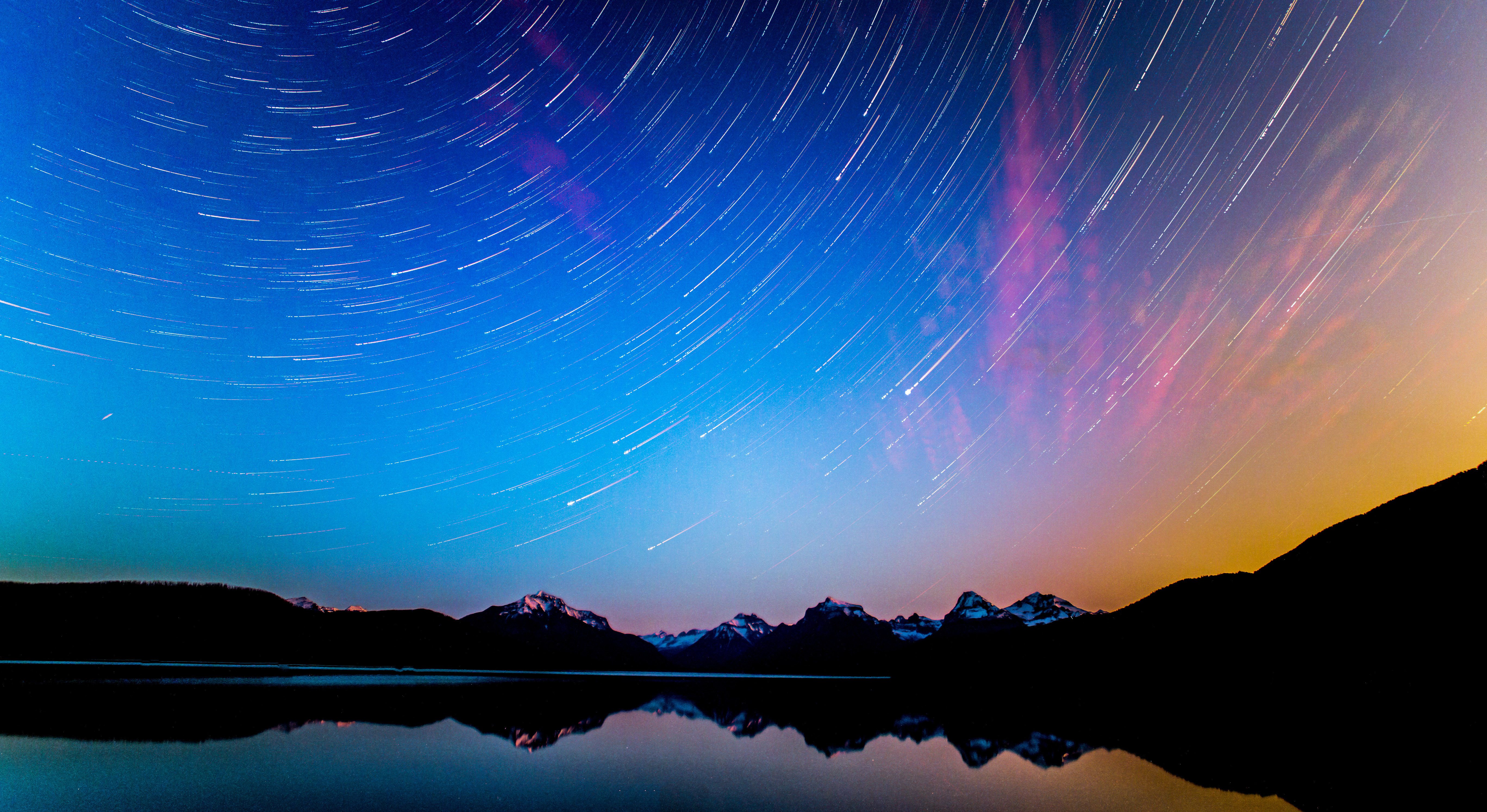 Star Trails, Glacier National Park