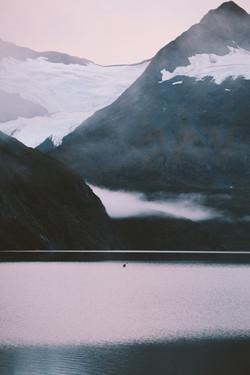 Paddling Portage Lake, Alaska