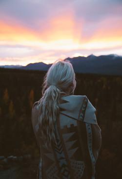 Enjoying an Alaskan Sunset