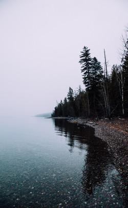 Low Clouds, Lake McDonald, Montana
