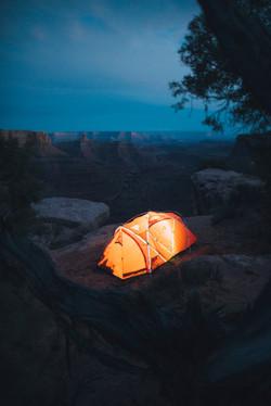 Tent in Moab, Utah