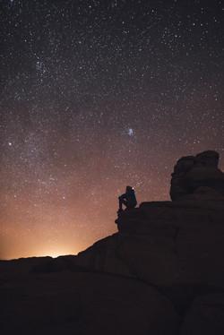 Looking up at the stars, utah