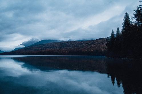 Morning on Bowman Lake- Glacier NP