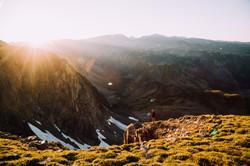 Sunset on the Beartooth Pass-Montana