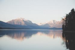 Lake McDonald Sunset Reflection- MT