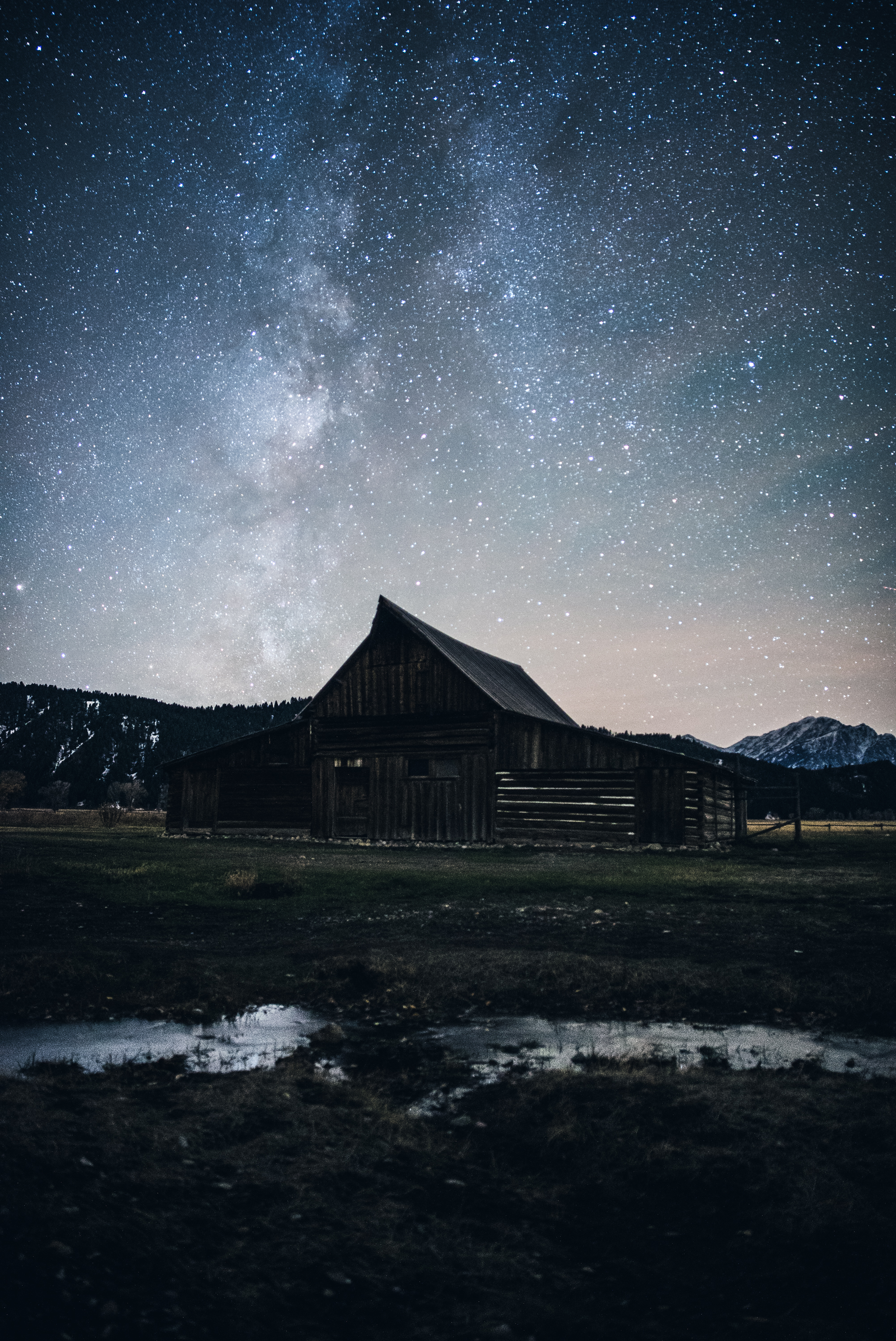 Mormon Row, Milky Way- Grand Teton