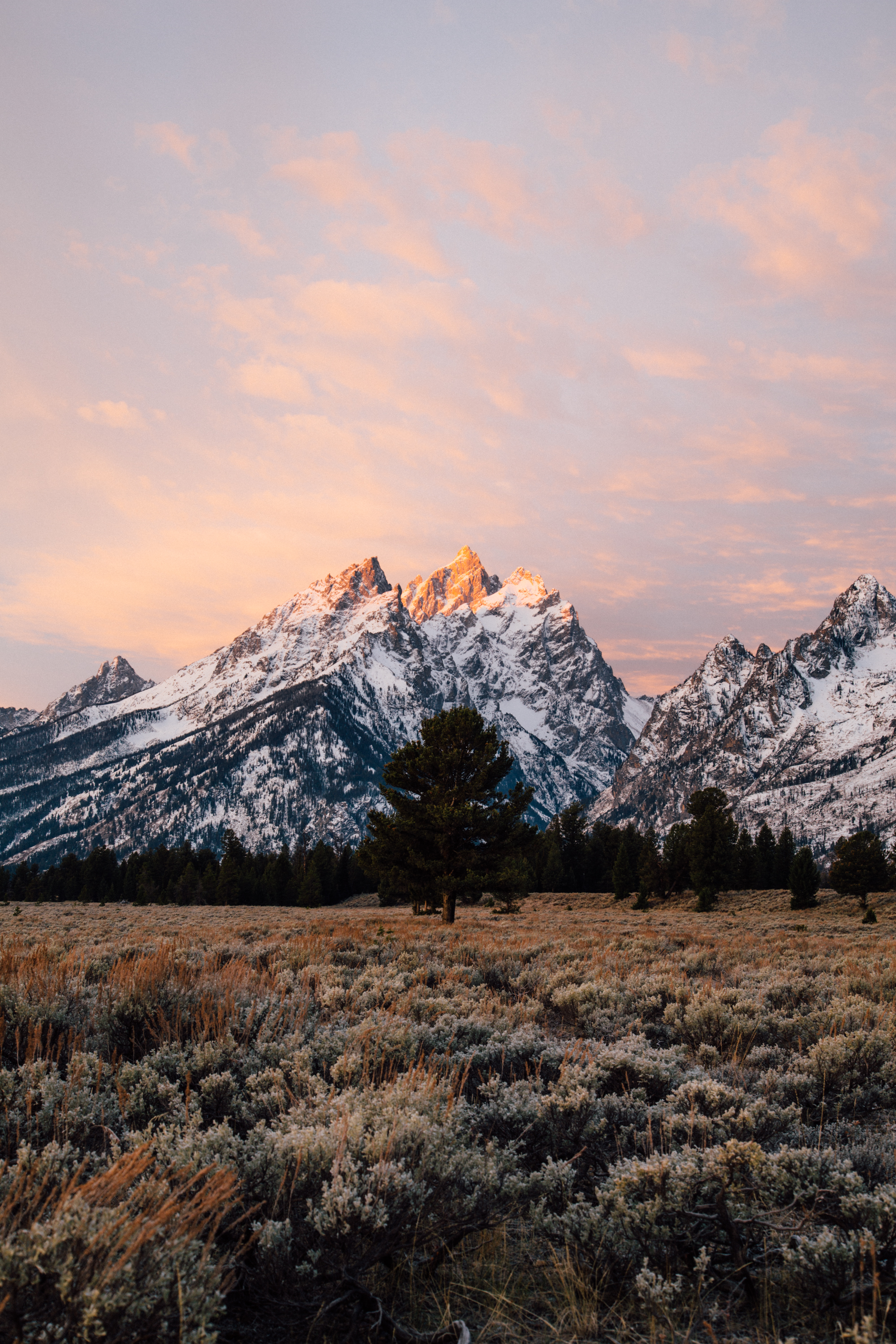 Teton Sunrise-Grand Teton-Sunrise