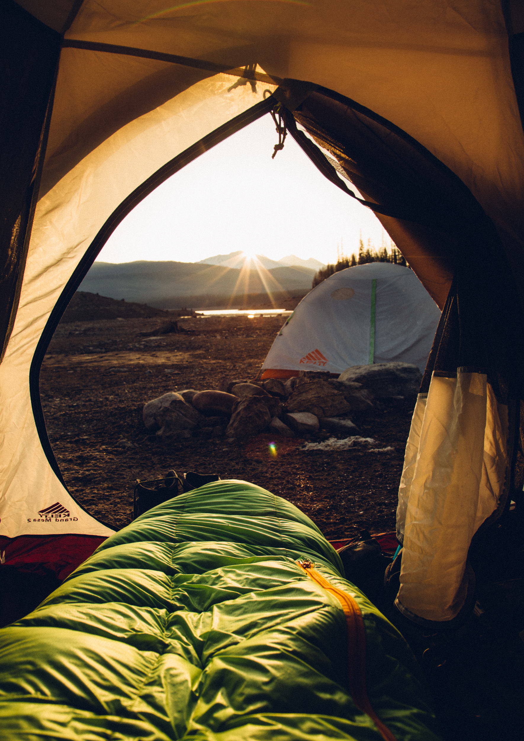 Montana Tent Sunrise