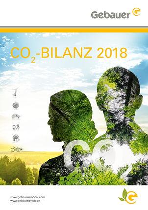 CO2 Bilanz Flyer Design Nachhaltigkeit