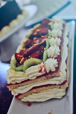 Strawberry Cheesecake Torte Cake