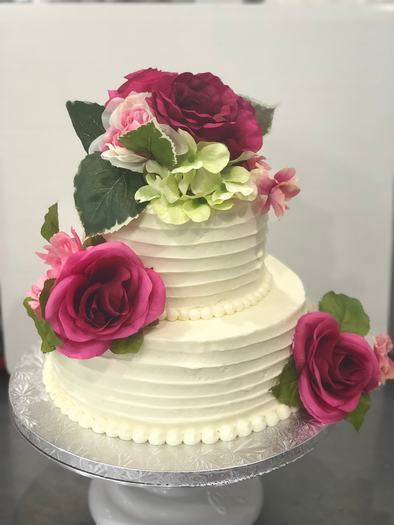 2 Tiers with Flowers