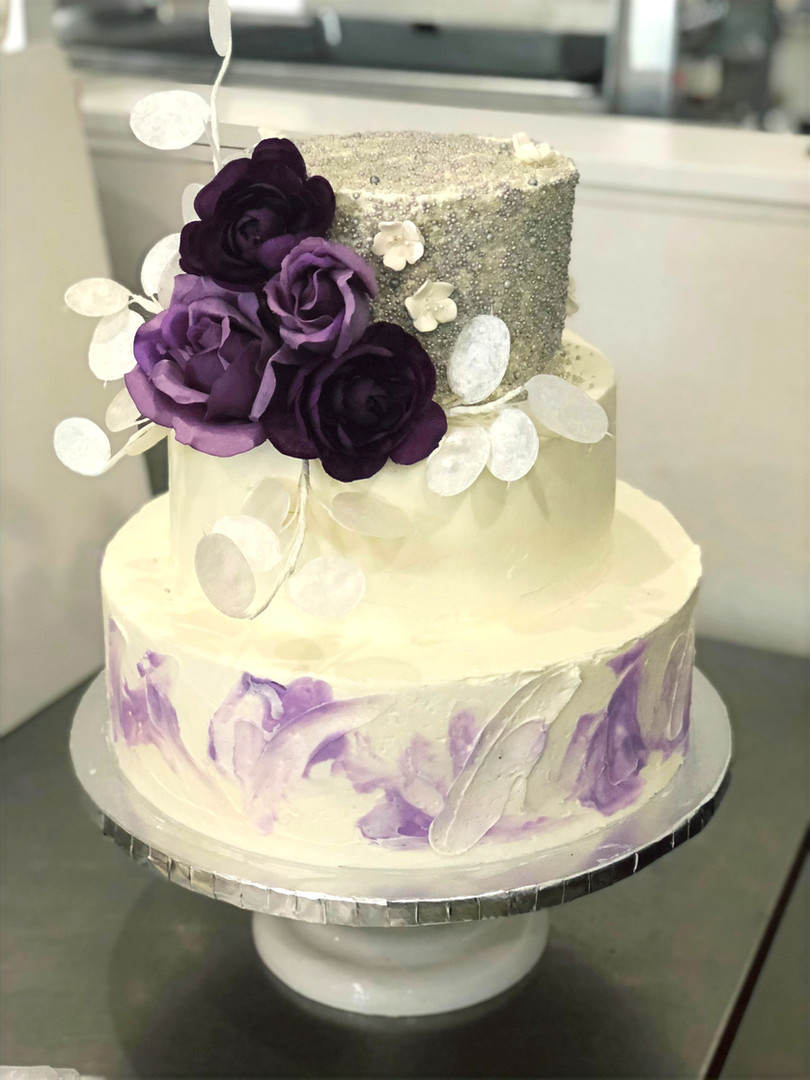 Silver&Purple 3 tier wedding.jpg